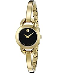 Movado Womens 0606888 Analog Display Swiss Quartz Gold Watch