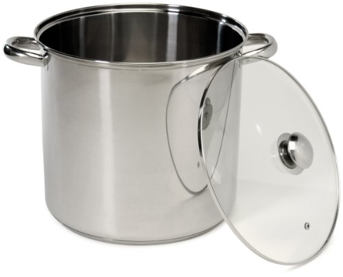 Excelsteel 16 Quart Stainless Steel Stockpot With Encapsulated (Gumbo Pot)