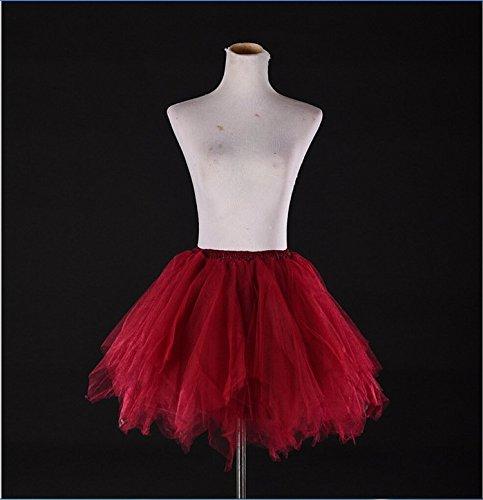 FEOYA dentelle Mini Jupon Tulle Jupe 42 Tutu Bal Courte Ballet Bouffe Soire pour Bordeaux Pliss 36 optique Princesse Elastique 34 en Couleur 40 Costume Cosplay 44 38 jupe Femme Dguisement Danse qIvq6rYw