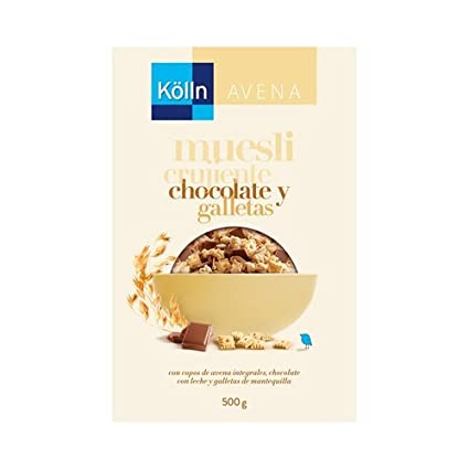 Muesli Crujiente Chocolate+Galletas 500 gr de Kölln