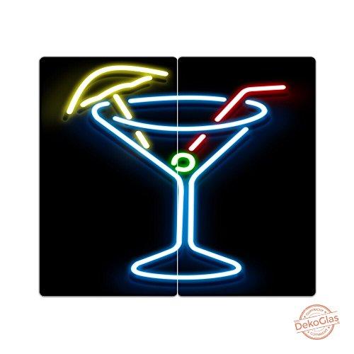 Herdabdeckplatten aus Glas m. Noppen von DekoGlas 2er-Set Herdabdeckung Schneidebrett Spritzschutz Leuchtröhren