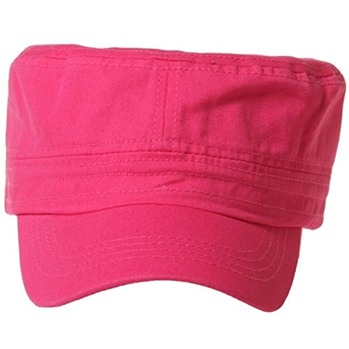 QML CADET Cotton adjustable Twill Cap ( 2 STYLES, 35 COLORS ) (1 TYPE, HOT PINK)