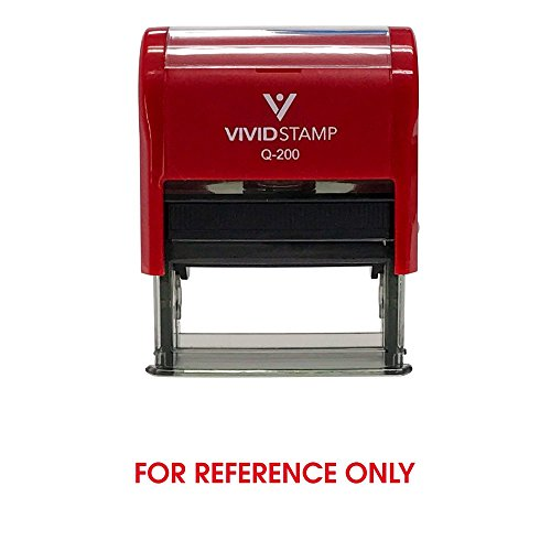 for Reference Only Self Inking Rubber Stamp (Red Ink) - Medium