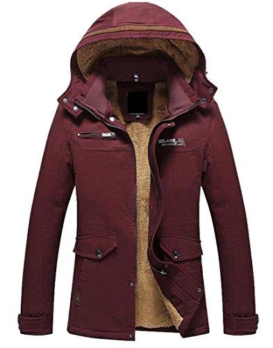 Vento All'aperto Trencfh Giacca amp; Casuale Cappotto W A Rossa Cotone Uomini amp; S M S8qOwxRFTx