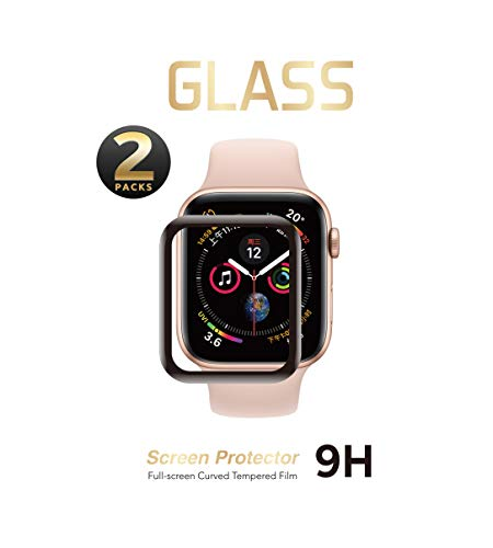 countingsheep 2 Pack - Liquid Tempered Glass Screen Protector Compatible for Apple Watch Full Coverage Protective Foil 9H 2.5D (44MM)