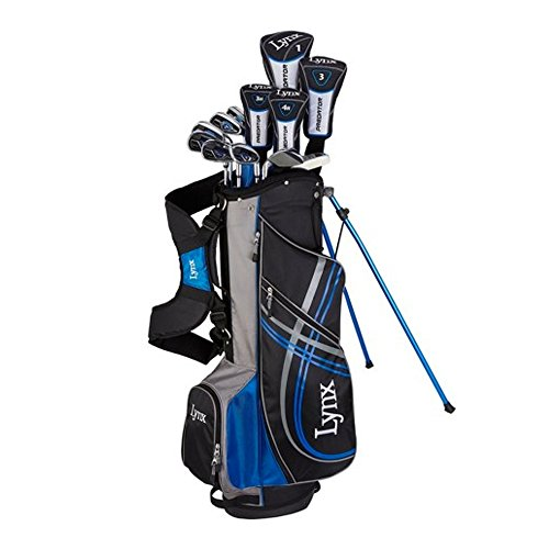 NEW Lynx Predator 17 Piece Complete Golf Set Driver, Woods, Irons, Putter, Bag (Right Handed Golf Drivers)