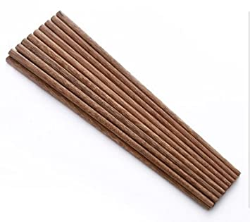Holymood Natural Chopsticks Reusable 10 Pairs Of Wenge Wood Chopsticks Wooden Chinese Chopsticks Set by Holymood