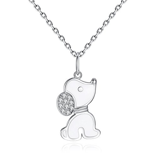 VIKI LYNN Dog Necklace 925 Sterling Silver Puppy Beagle Gifts for Dog Lovers