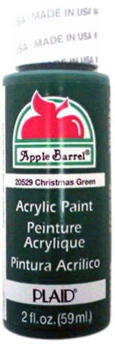 Apple Barrel Acrylic Paint in Assorted Colors (2-Ounce), 20529 Christmas Green