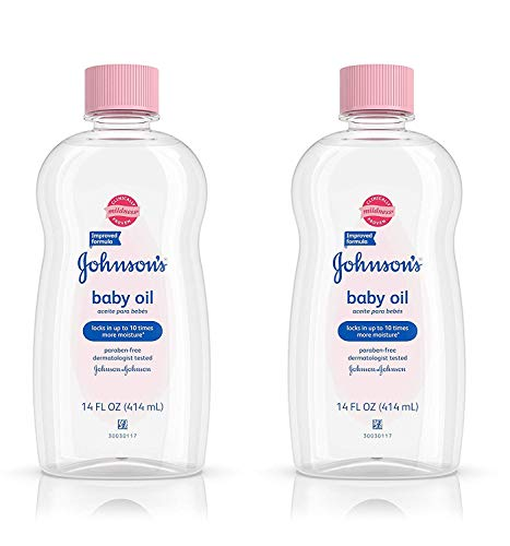 Johnson & Johnson Baby Oil Original, 14 Ounce (Pack of 2)