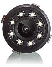 XOMAX XM-018 Universele auto achteruitrijcamera set met 8 LED-lampjes voor goed nachtzicht, parkeerhulp met gekleurde lijnen, 5m kabel, RCA-connector, PAL, groothoek 170° graden, 12V-bediening
