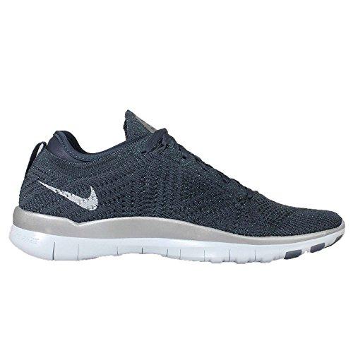 Nike Wmns Free Tr Flyknit Mtlc, Zapatillas de Gimnasia para Mujer Azul (Sqdrn Blue / Bl Tnt-Mtllc Slvr)