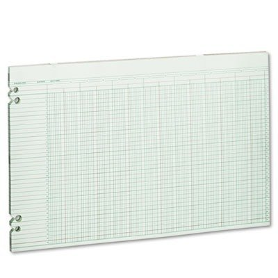 Wilson Jones G5024 Columnar Ruled Sheets, 24 Col, 11''x17'', 100/PK, Green