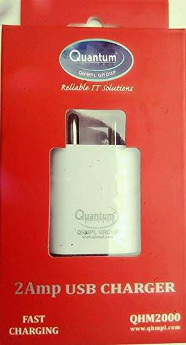 quantum 2 amps mobile charger  White