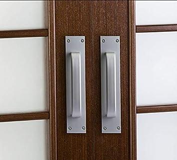 tiradores de puerta de armario. Juego de 2 tiradores de puerta correderas de aleaci/ón de zinc para puerta de fuego