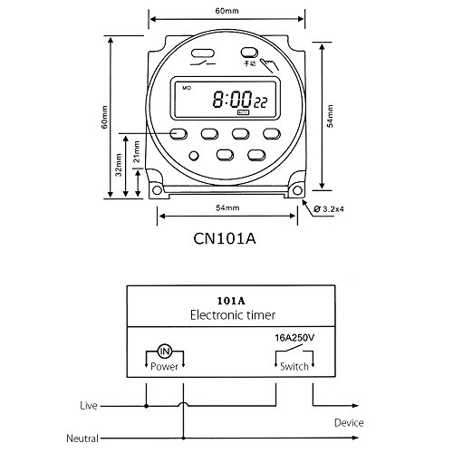 41nvVBZ2HkL cn101 dc 220v digital lcd programmable timer dc 220v amazon co uk cn101a timer wiring diagram at gsmportal.co