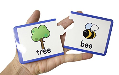 Rhyming Sounds Matching Puzzle - Teacher Language Arts Supplies - ESL English Spelling Writing Activity