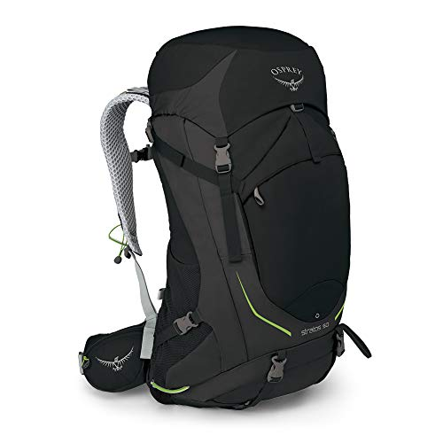 Osprey Packs Stratos 50 Backpacking Backpack, Black, M/l, Medium/Large