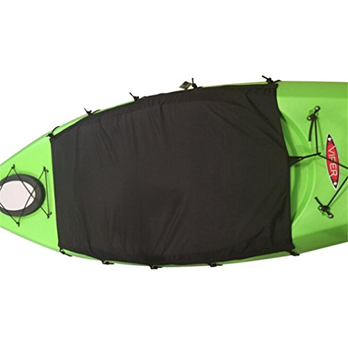 Mexidi 2.3x3.94ft Professional Waterproof UV Protection Sunblock Cockpit Drape Seal kayak Cover fit almost kayak - Strentch Adjustable Bungee Cords Wrap Perfect for Storage (Boat Cockpit Cover)