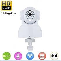 SHY Wireless IP Security Camera Pan Tilt 720P WiFi Network P2P APP Support ONVIF Night Vision 2 Way Audio