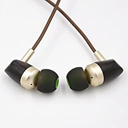 Easy BOSSHIFI B3 Earphone Dynamic and Armature 2 Unit Wood Headphones Hifi Hybrid IEMs in Ear Earphone DIY Wooden Headset (B3)