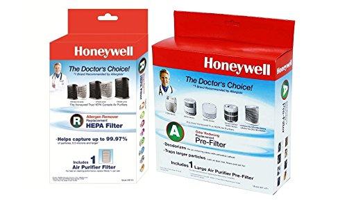 Honeywell True HEPA Replacement Filter W/ Pre-Carbon Bundle Kit