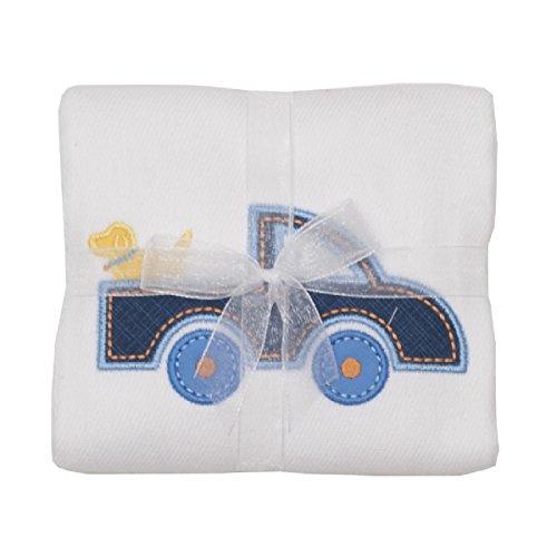 - 3 Marthas Boutique Applique Burp Pad Cloth (Blue Little Truck)