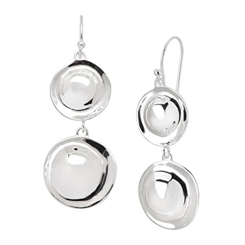 Silpada 'Retro Revival' Sterling Silver Double Circle Drop (Sterling Silver Textured Disc)