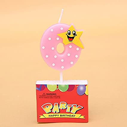 Buy Number Birthday Candles 1 2 3 4 5 6 7 8 9 0 Kids Adult For Cake Party Supplies Decoration Pink Blue Red Online At Low Prices In