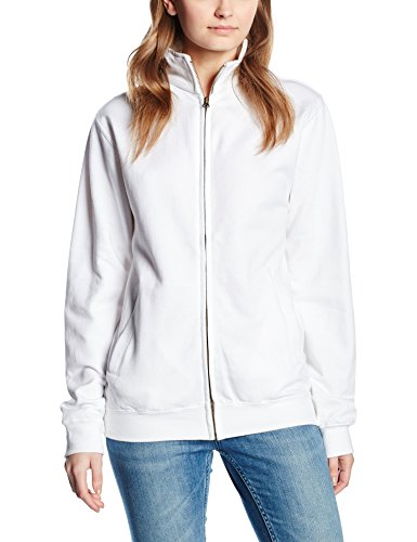 arctic Zip Bianco Donna Just Hoods Fresher Sweat By Awdis Full Felpa White wUv6UqOX