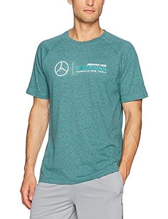Mercedes Amg Petronas F1 Men S Logo Tee Deep Teal Heather Amazon Com
