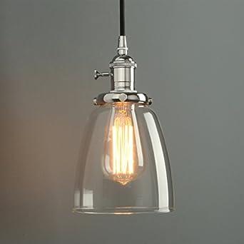 Phansthy Retro Industrial Pendant Light Vintage Hanging Light ...