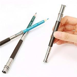 cococina ajustable extensor de lápices doble soporte de cabezal de 2escuela arte dibujo herramientas de escritura