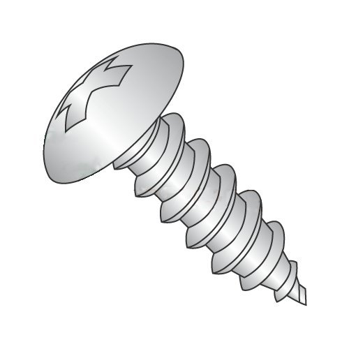 "#10 x 1/2"" Type AB Self-Tapping Screws/Phillips/Truss Head / 18-8 Stainless Steel (Carton: 3,000 pcs) 41nvYwu8LXL"