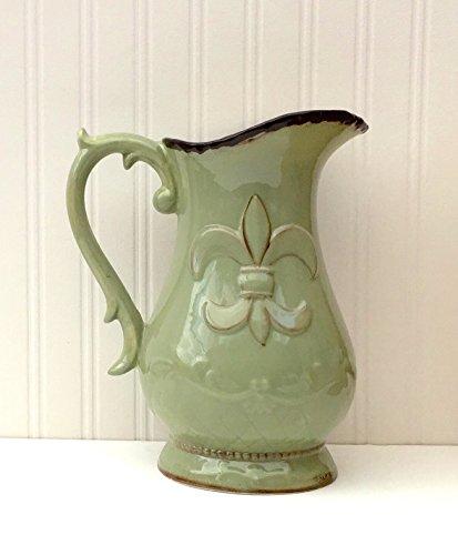 green ceramic pitchers - 3