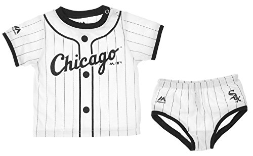 MLB Chicago White Sox Infant Baby Boys Player Tee & Bottom Set, White (6-9 Months (Chicago White Sox Blank)