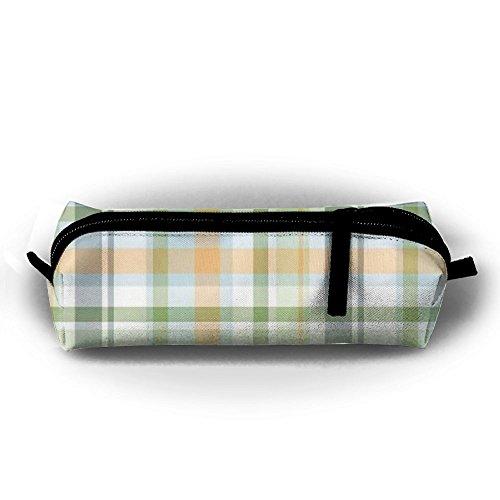 Banana Striped Satin (Students Pencil Case Lattice Fashion Pen Holder Makeup Bag Zipper Pouch)