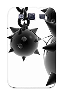 New Shockproof Protection Case Cover For Galaxy S3/ Black And White Mace Case Cover by Maris's Diary
