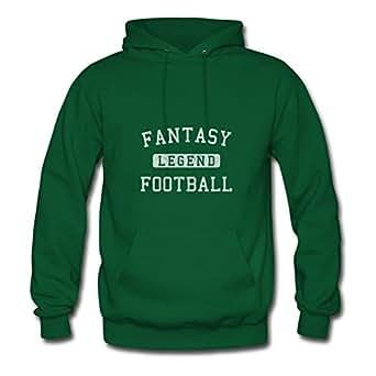 Styling X-large Hoody Green Fantasy Football Legend Designed Women Organic Cotton S