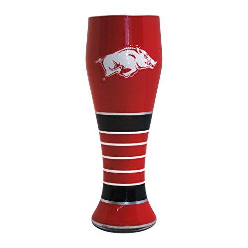 Arkansas Razorbacks Art Glass (NCAA Arkansas Razorbacks Artisan Pilsner Glass, 23-ounce)