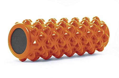 "ProSource Bullet Sports Medicine Foam Roller 35 cm x 12,5 cm (14"" X 5""), Extra Firm for Deep Tissue Massage and Releasing Trigger Points, Orange"