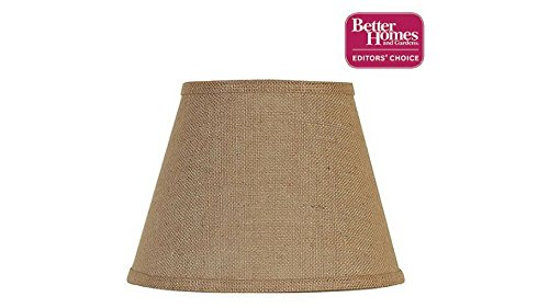 Accent Lamp Shade Uno Fitter, Burlap Does Not Require a Harp