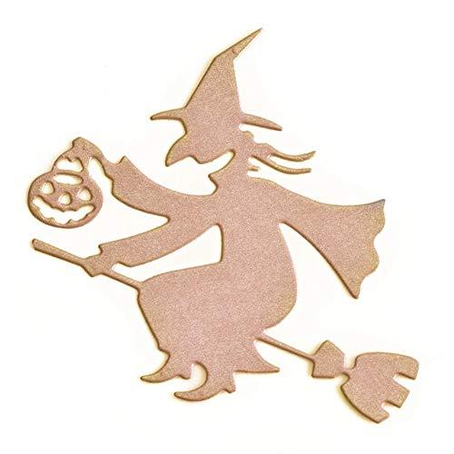 KOERIM Halloween Witch Pumpkin Cutting Dies Stencil Mold Scrapbooking for DIY Paper Album Cards Embossing Dies -