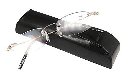 SOOLALA Unisex Designer Lightweight Rimless Quality Readers Thin Reading Glasses, - Designer To Where Buy Glasses