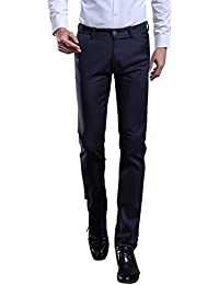 TALITARE Men's Elastic Stretch Business Workwear Slim Fit Suit Separate Pant