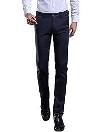 Men's Elastic Stretch Business Workwear Slim Fit Suit Separate Pant