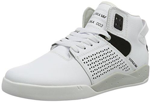Supra Herren Skytop III Schuhe Weißes Leder