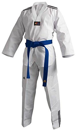 adidas Taekwondoanzug, Adi Club 3 stripes, weißes Revers T/160 CM