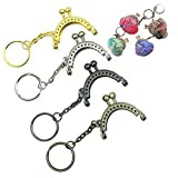 GuoFa DIY 4CM Metal Heart Mini Sewing in Coin Purse Bag Frames Kiss Clasp Frame Bag Handle Bag Accessory 20PCS
