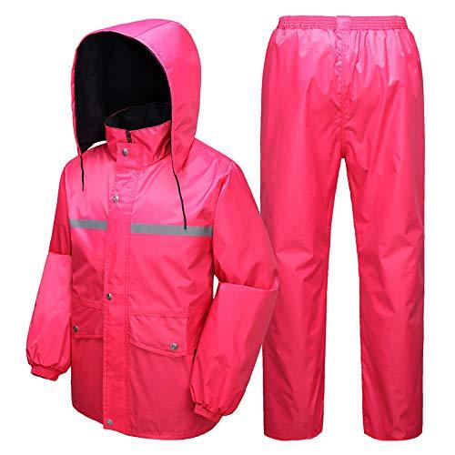 Rose XX-grand OLDJTK Pantalon de Pluie Cycliste Moto Adulte Seul équitation Split imperméable Ensemble imperméable (Couleur   Rose, Taille   L)